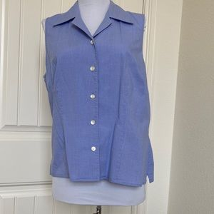 Harold's women's sleeveless Button Down